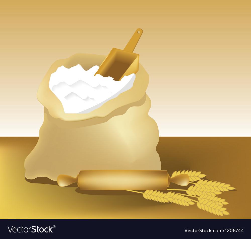 Flour Vector Image