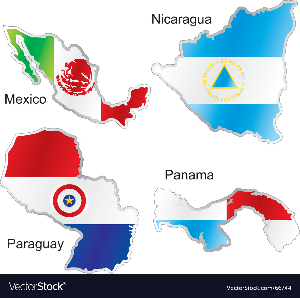 America maps vector image