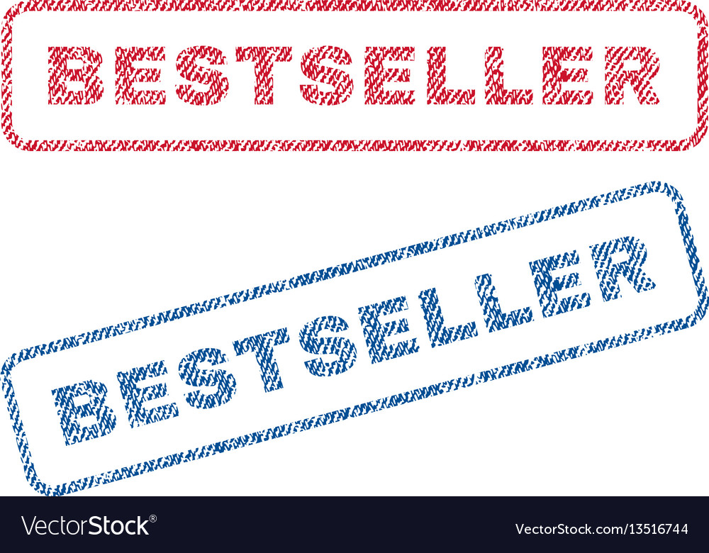 Bestseller textile stamps vector image
