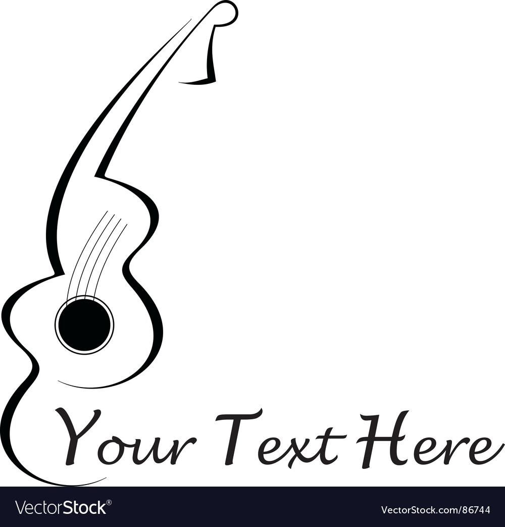 Guitar tattoo vector image