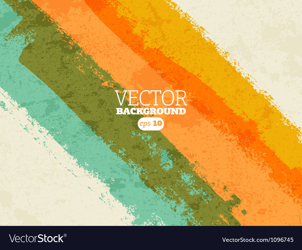 Grungy retro background vector image