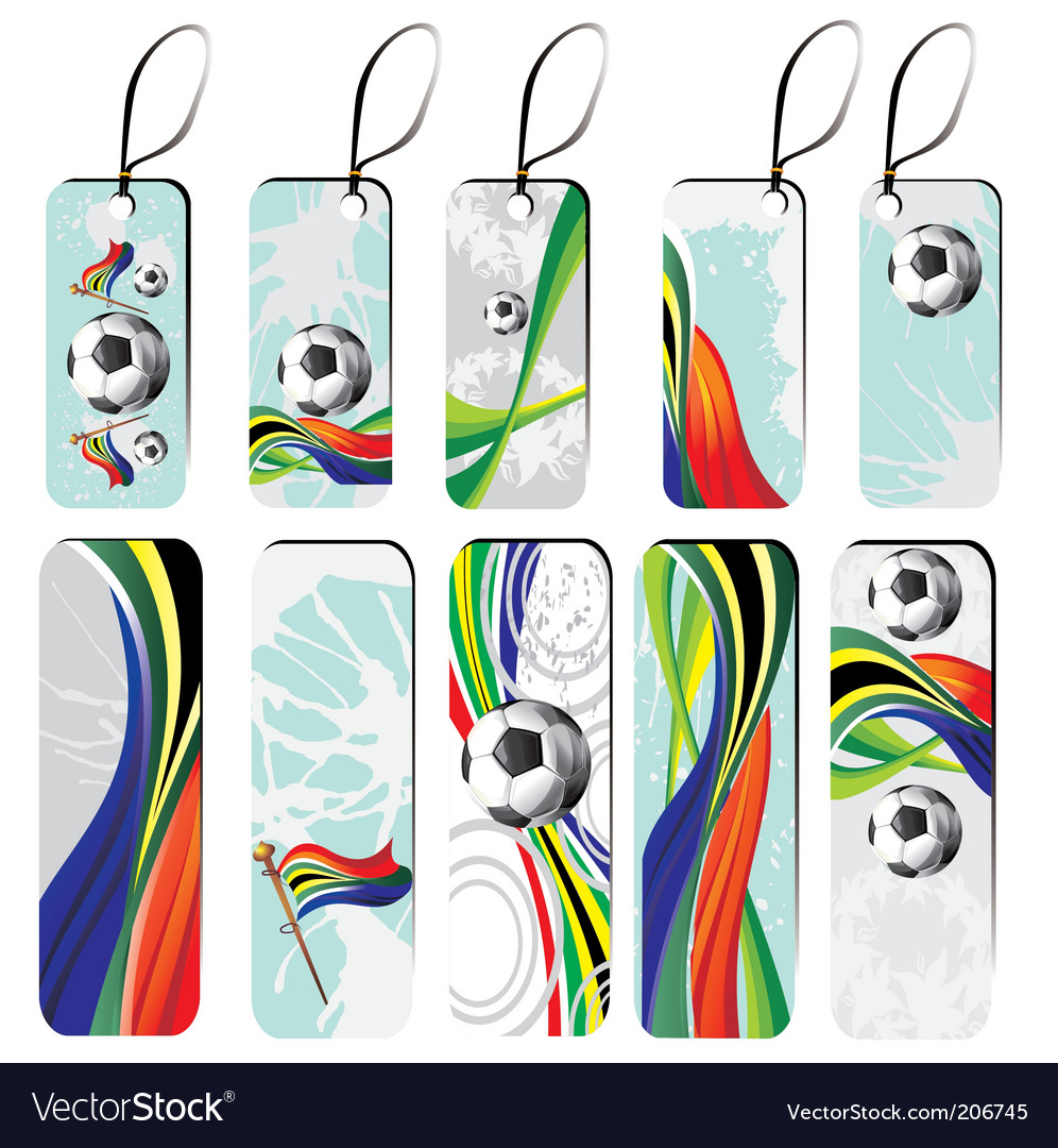 Set of football tags vector image