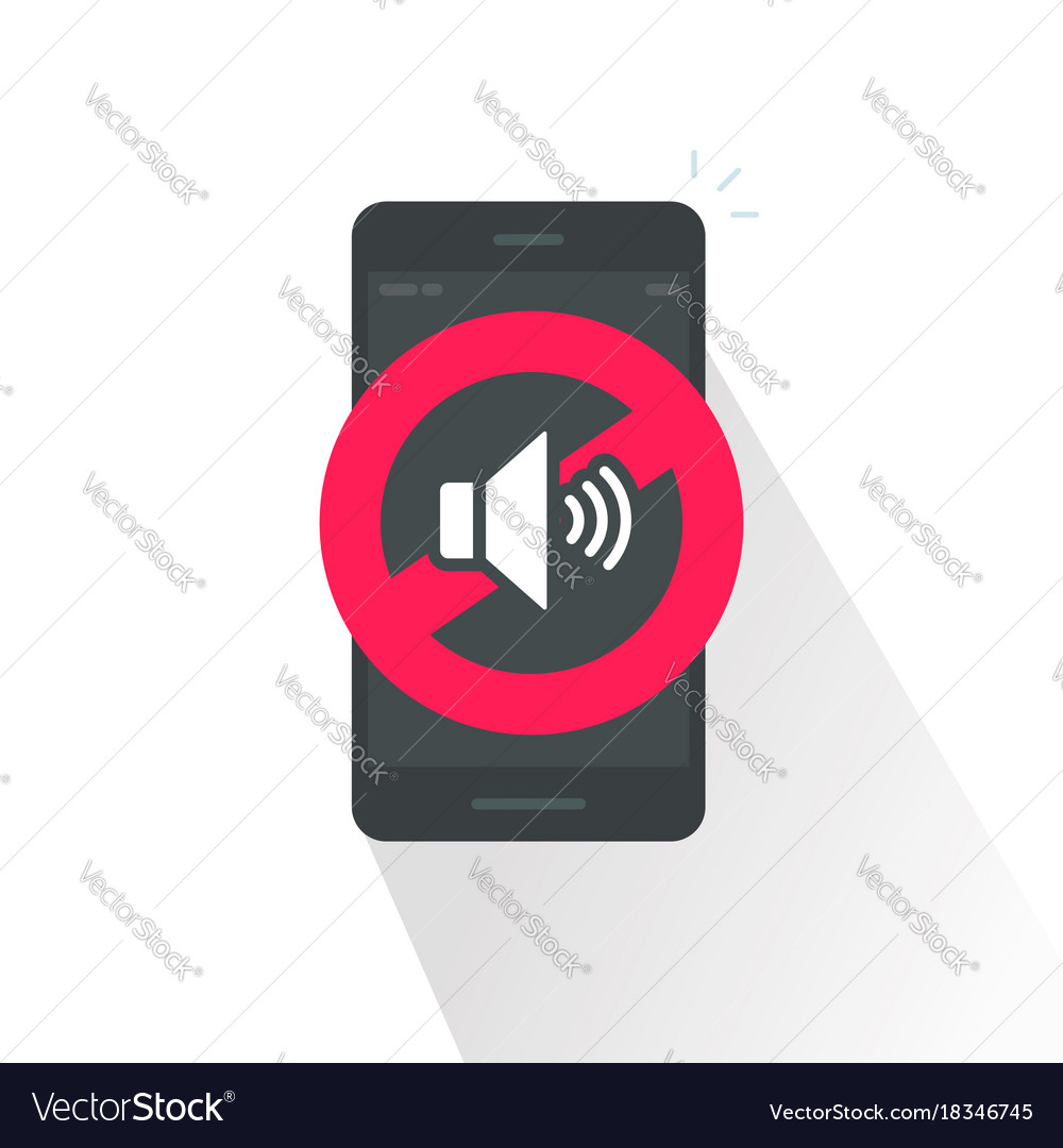 Silence cell phone sign vector image