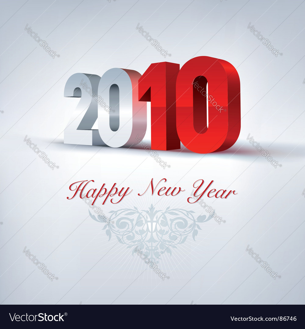 2010 3d newyear vector image