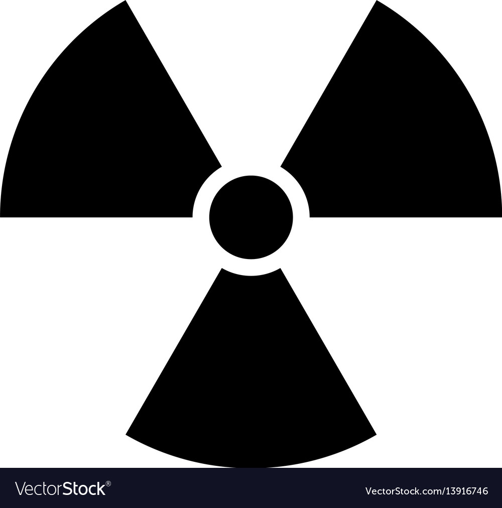 Ionising radiation sign attention danger symbol vector image biocorpaavc Gallery