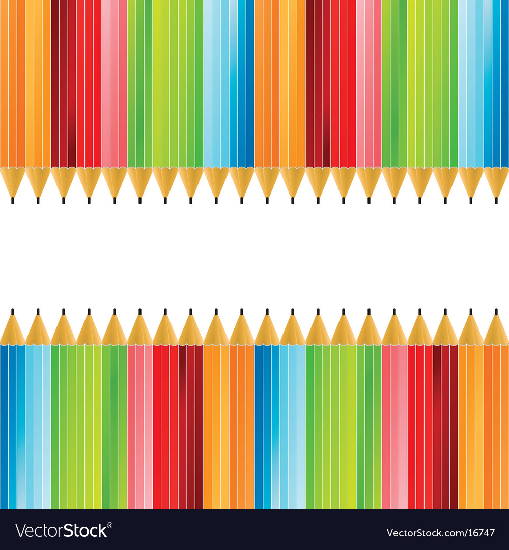 Pencils colorful background vector image