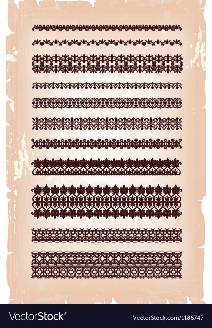 Set of vintage arabic pattern vector image
