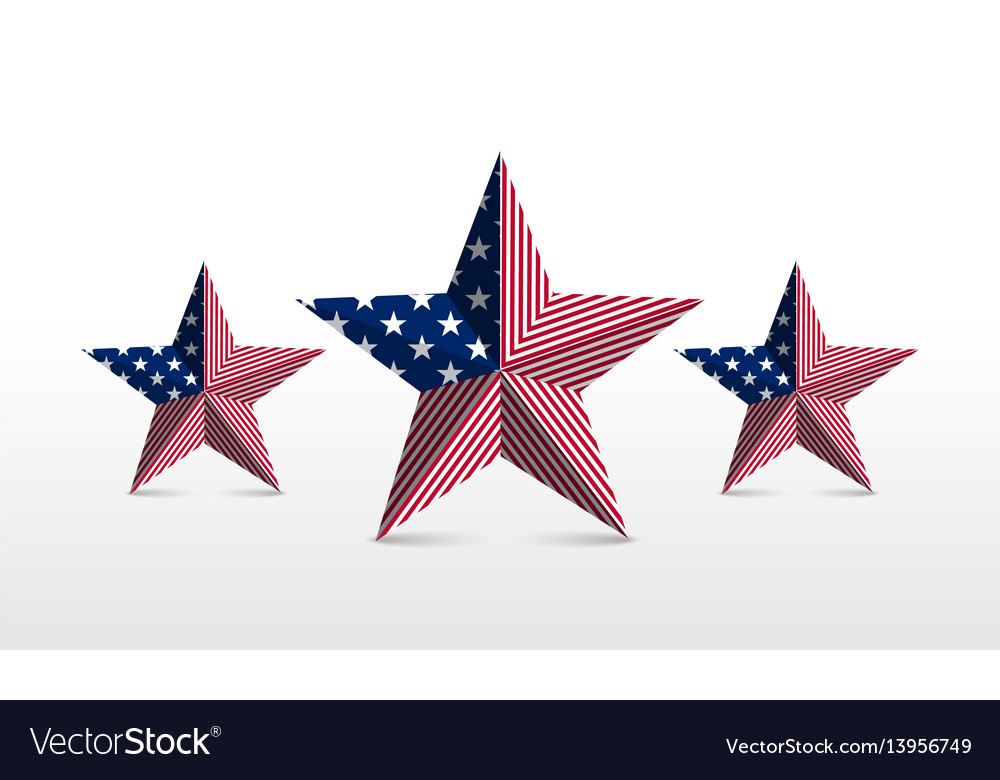 Star element flag vector image