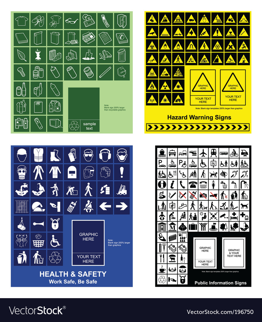 Sign collection Vector Image