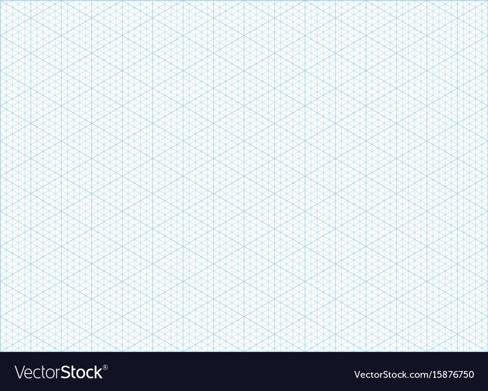 Elegant Isometric Grid Graph Paper Background Vector Image