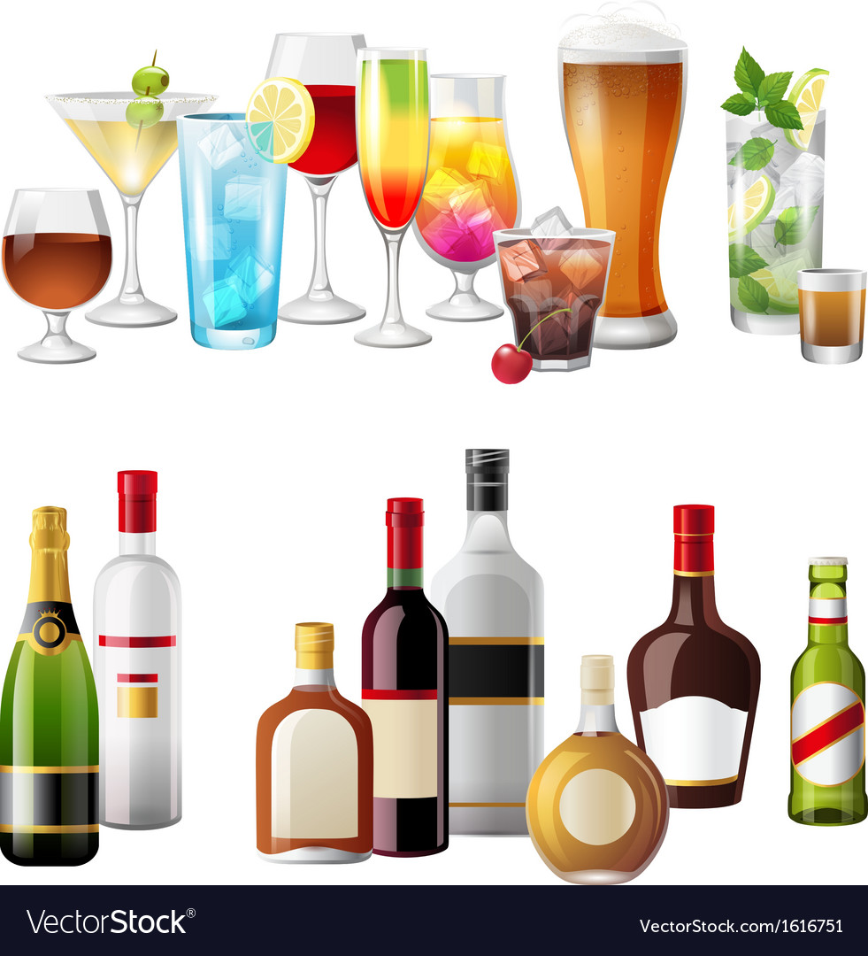 Alcohol borders vector image