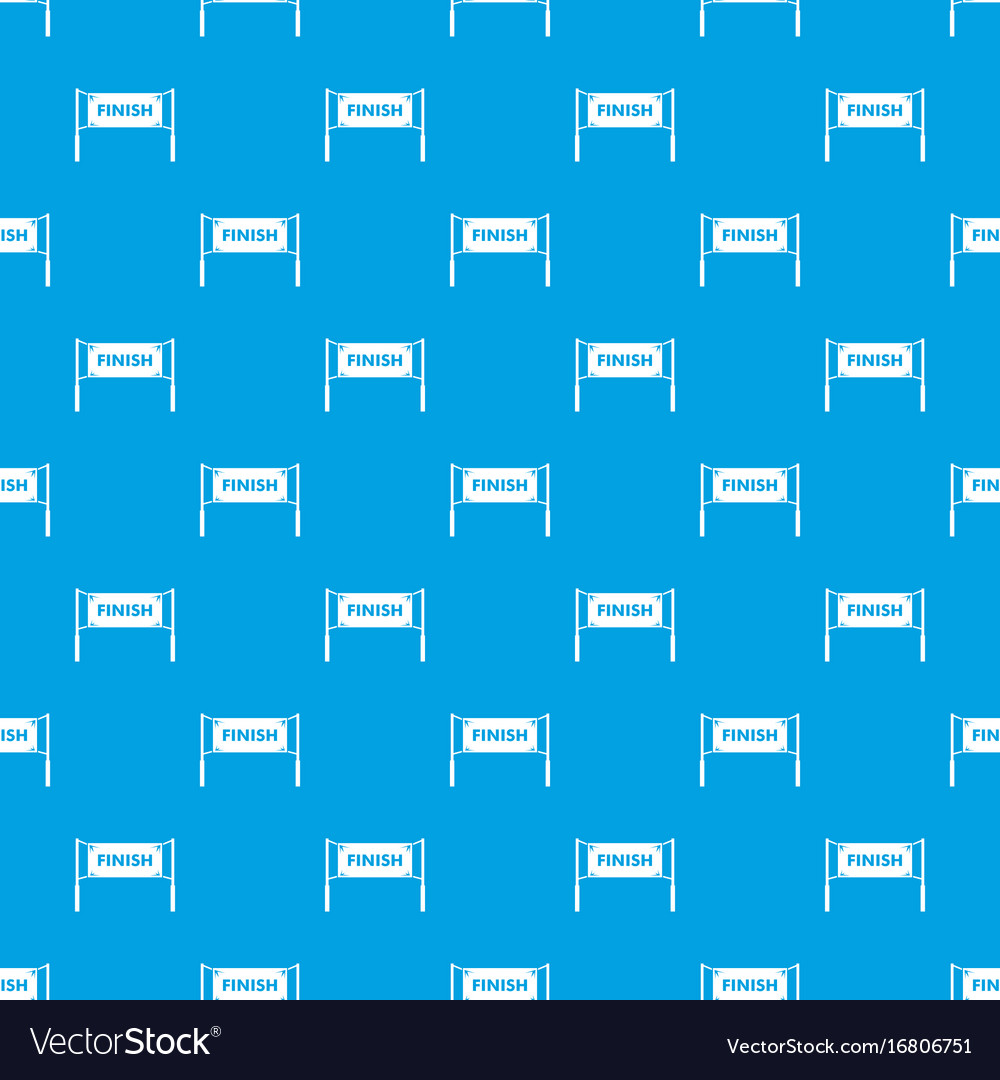 Finish line gates pattern seamless blue vector image