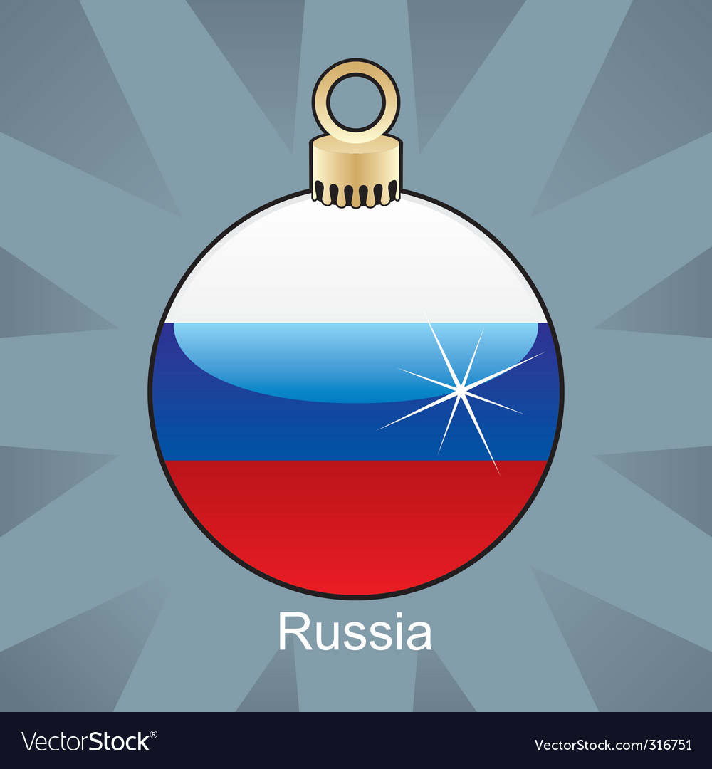 Russia flag on bulb vector image