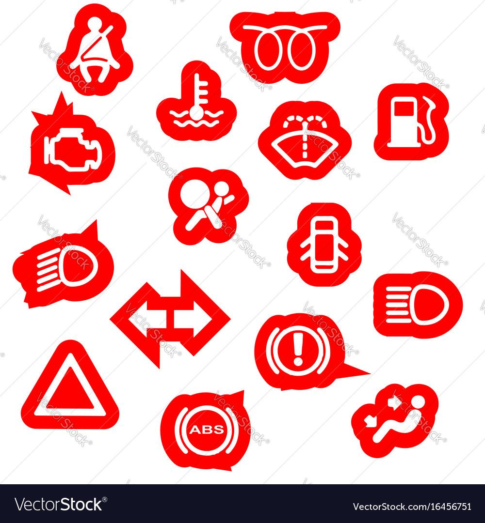 Vehicle Dash Warning Symbols Royalty Free Vector Image - Car image sign of dashboardcar dashboard icons stock images royaltyfree imagesvectors