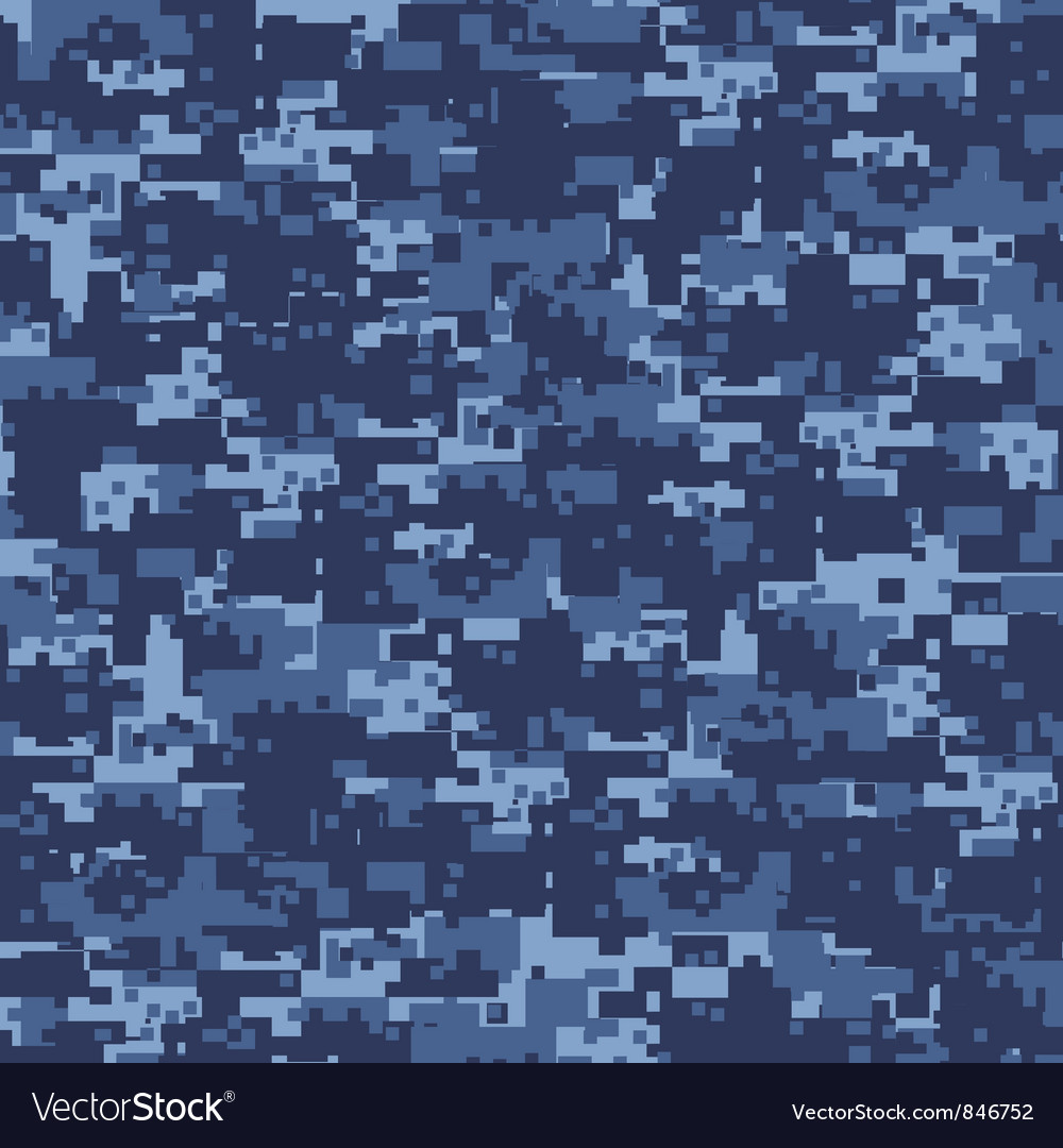 Military blue camouflage vector image