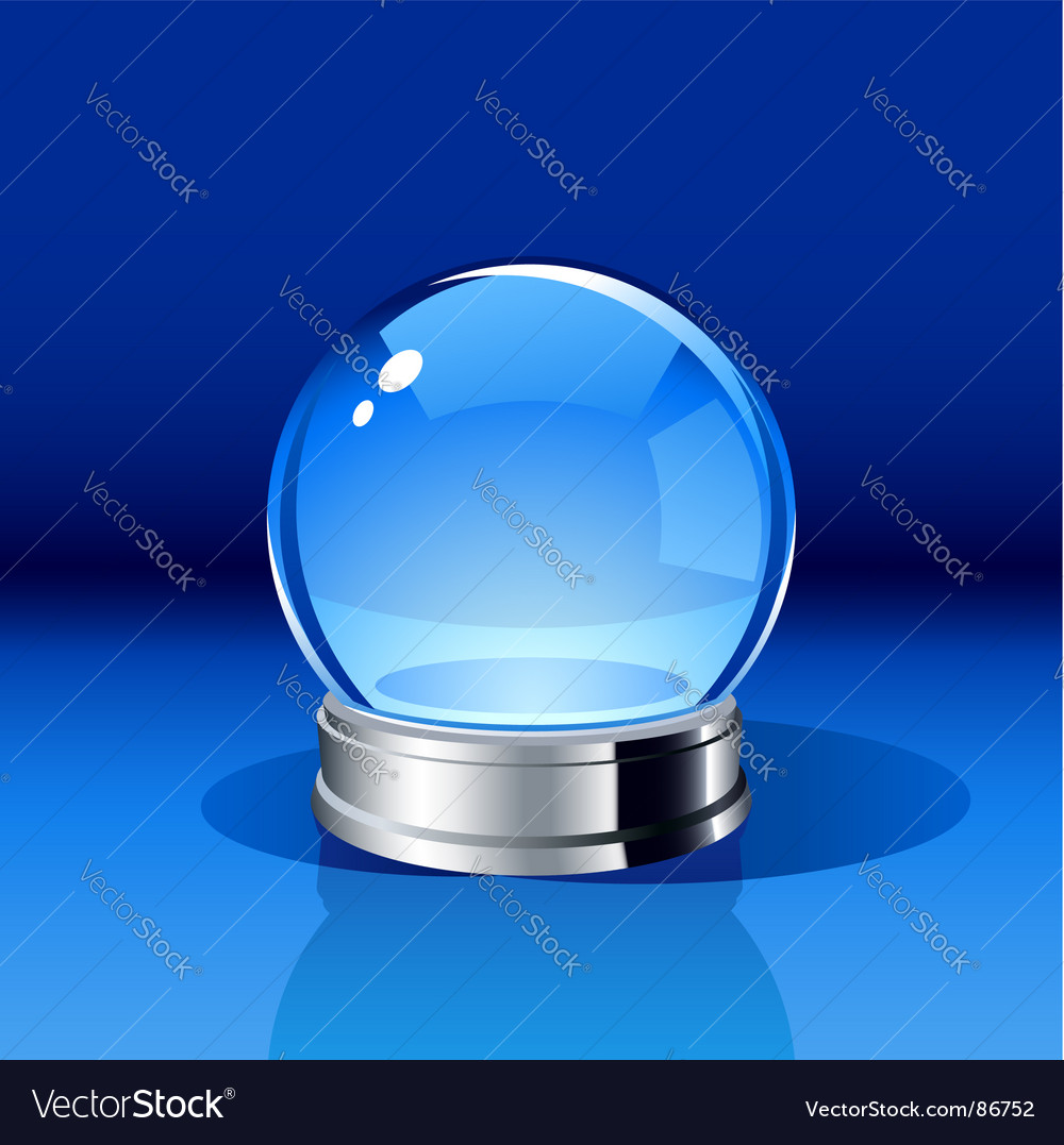 Crystal ball vector image