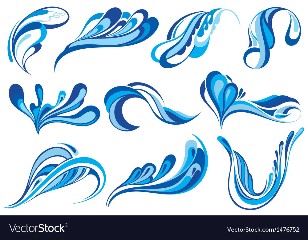 Water Splash Royalty Free Vector Image