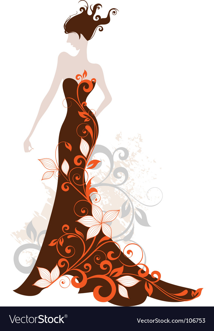 Fashion floral vector image