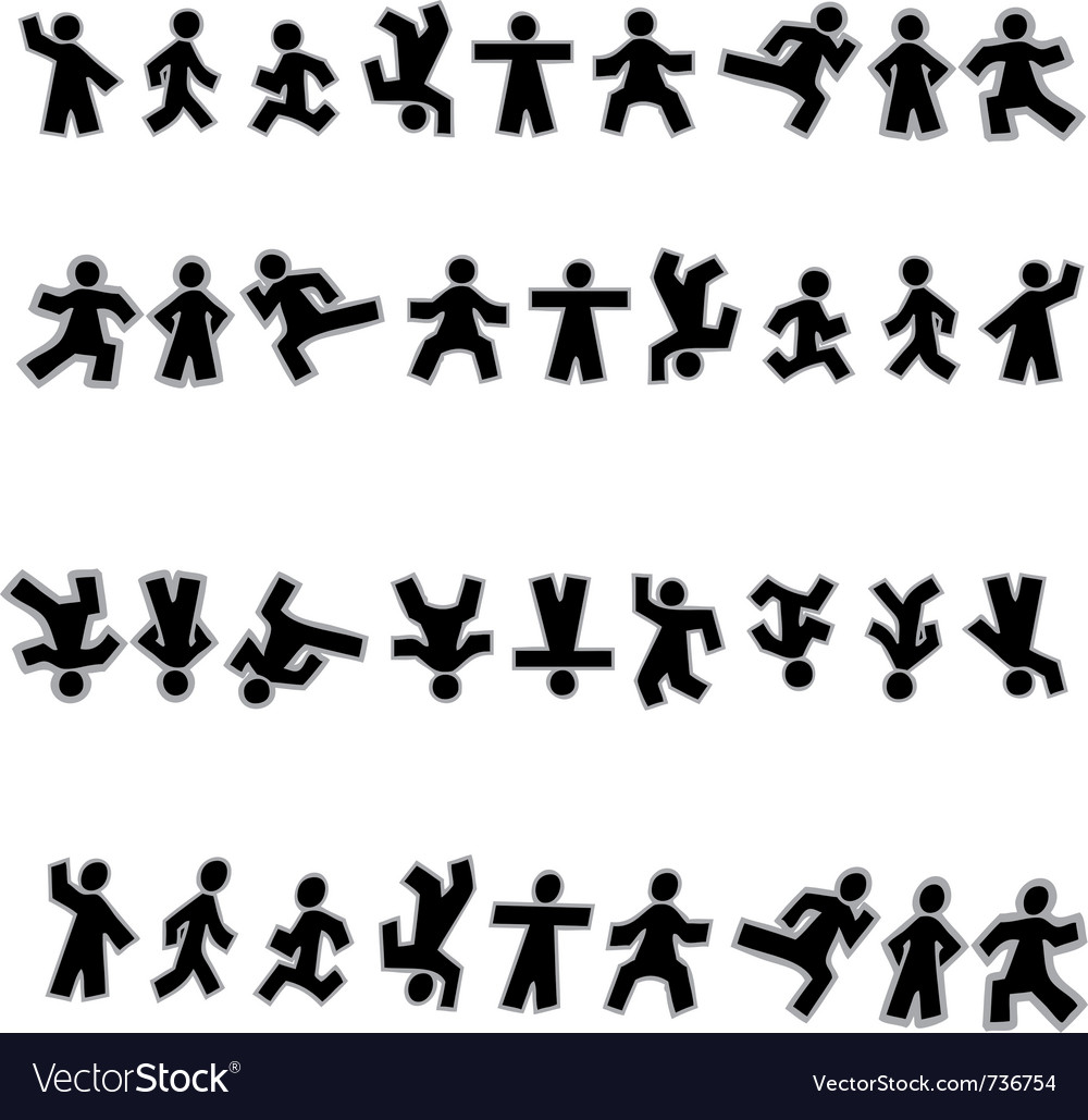 People icon sign symbol pictogram vector image