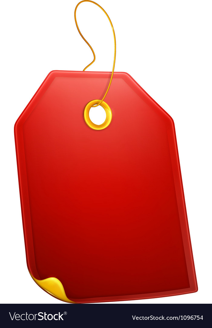 Red Gift Tag vector image