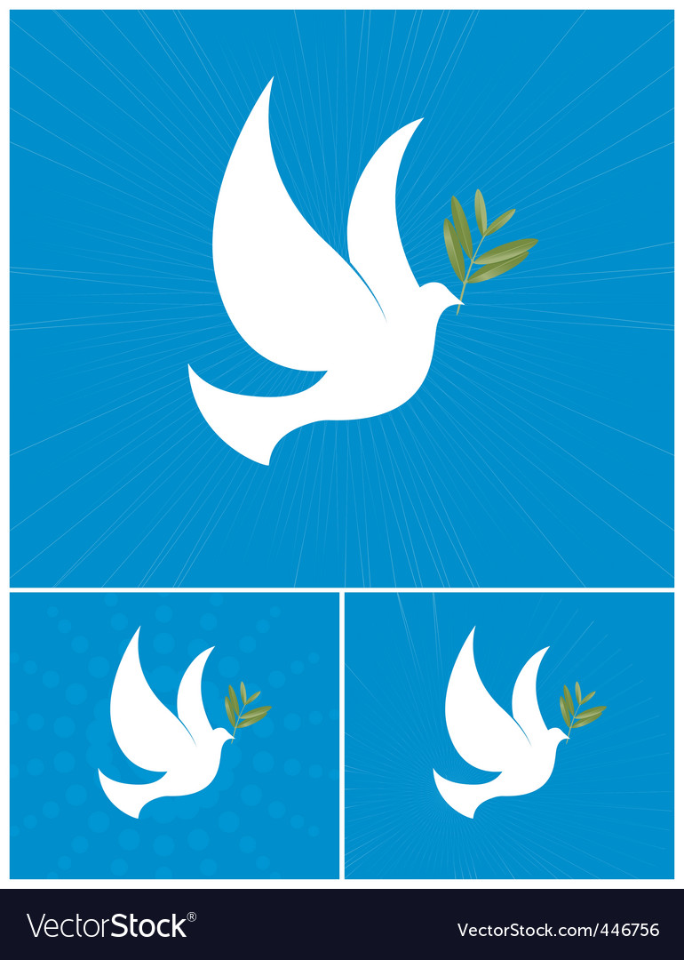 Dove of peace Vector Image