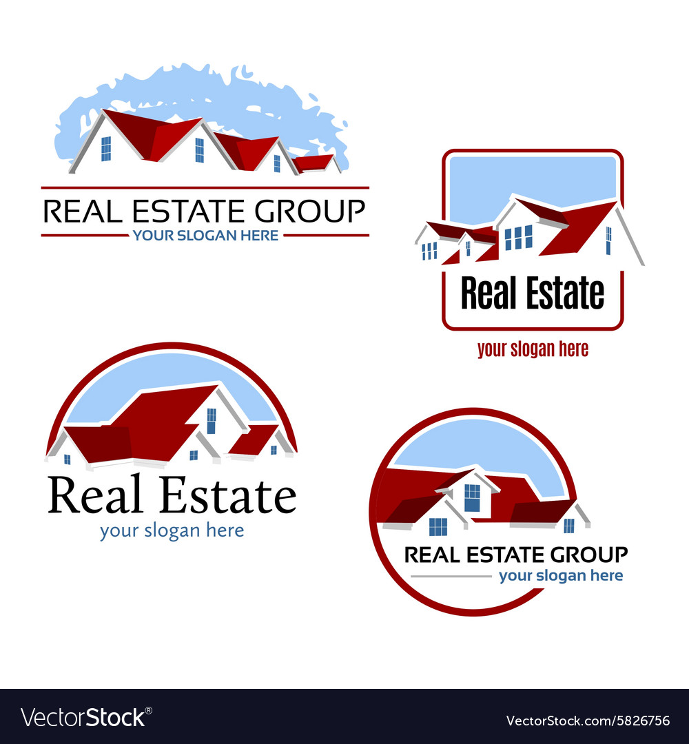 Real Estate Emblems vector image