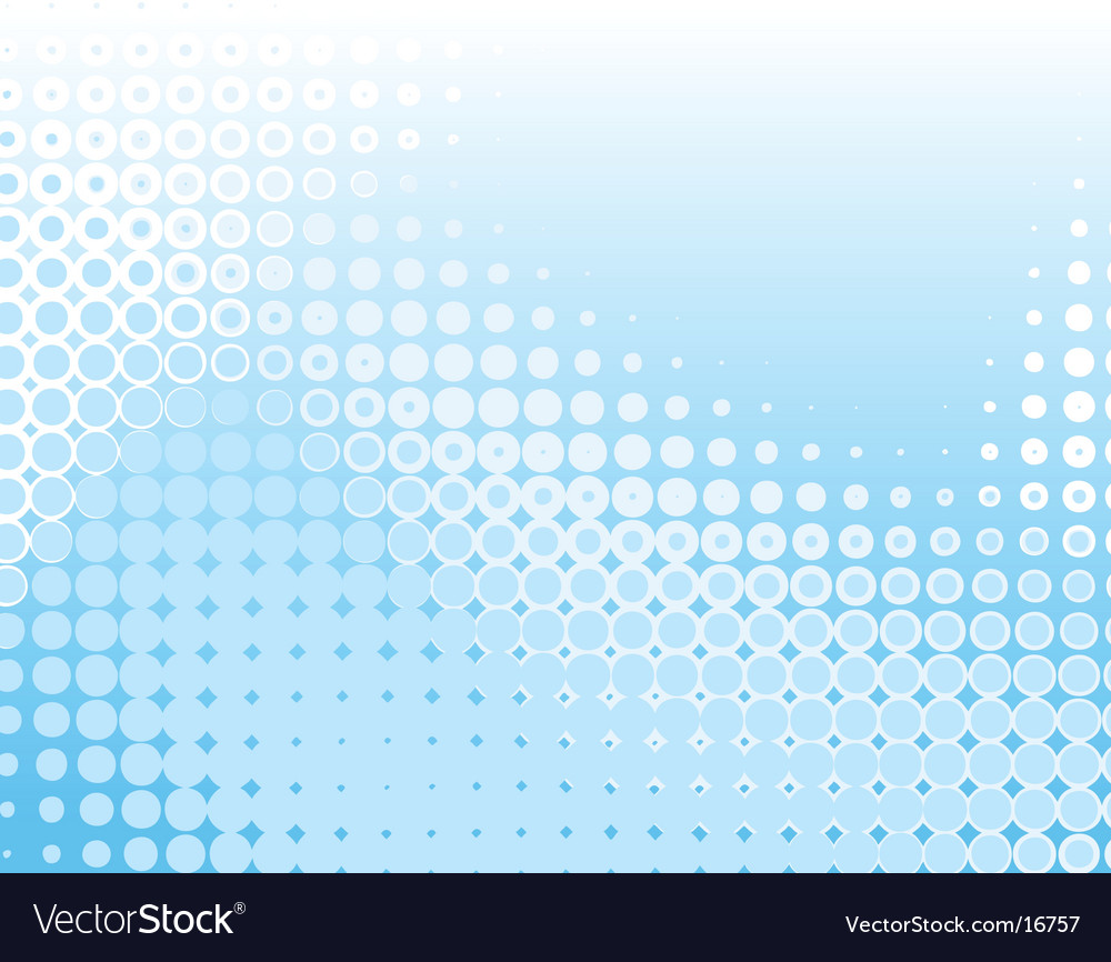 Blue dots vector image