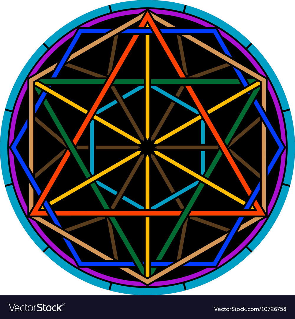 Color magic hexagram vector image