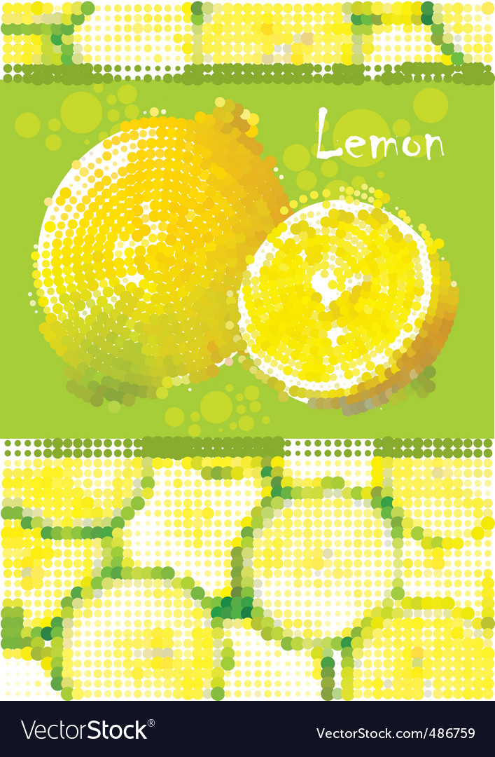 Fresh lemon menu vector image