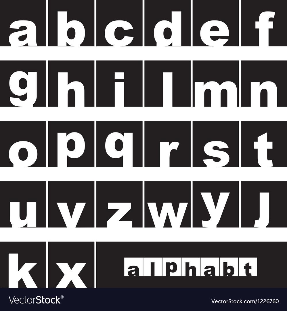 Lowercase alphabet Vector Image