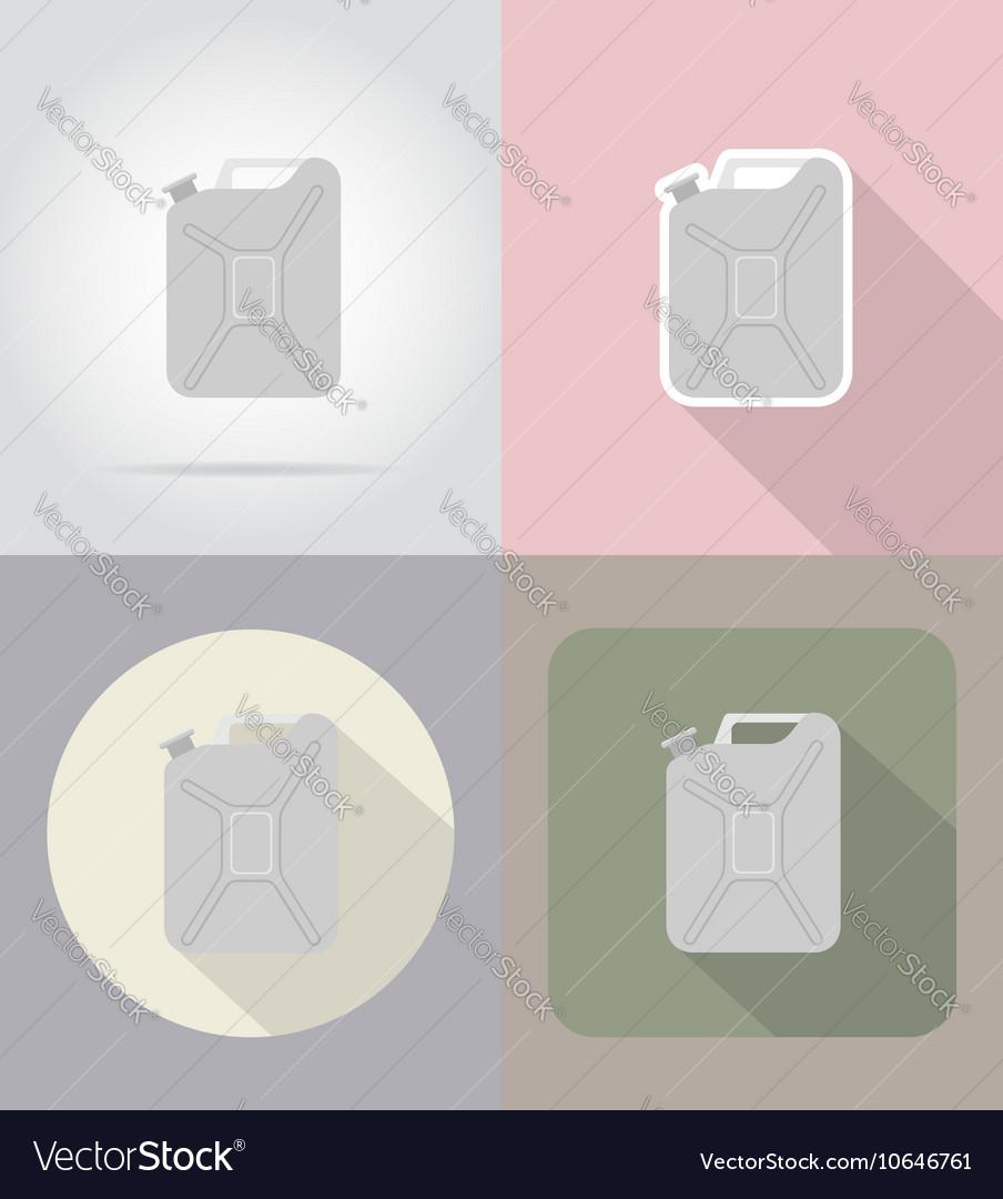 Car equipment flat icons 10 vector image