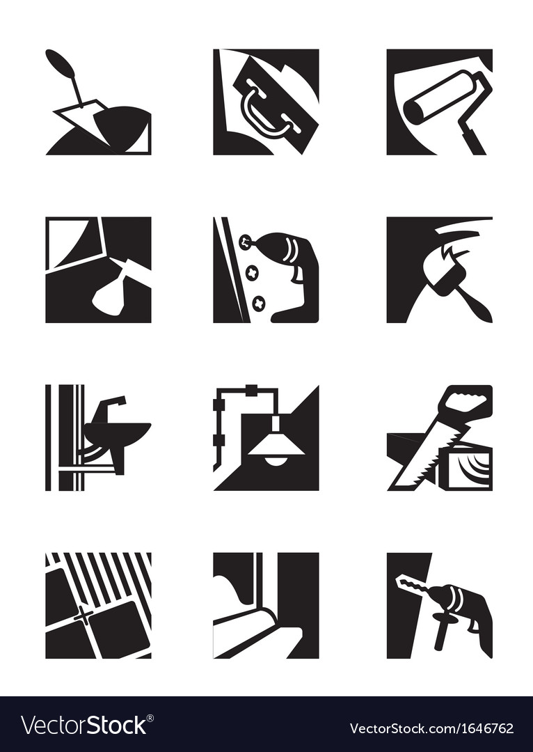 Construction tools and materials vector image