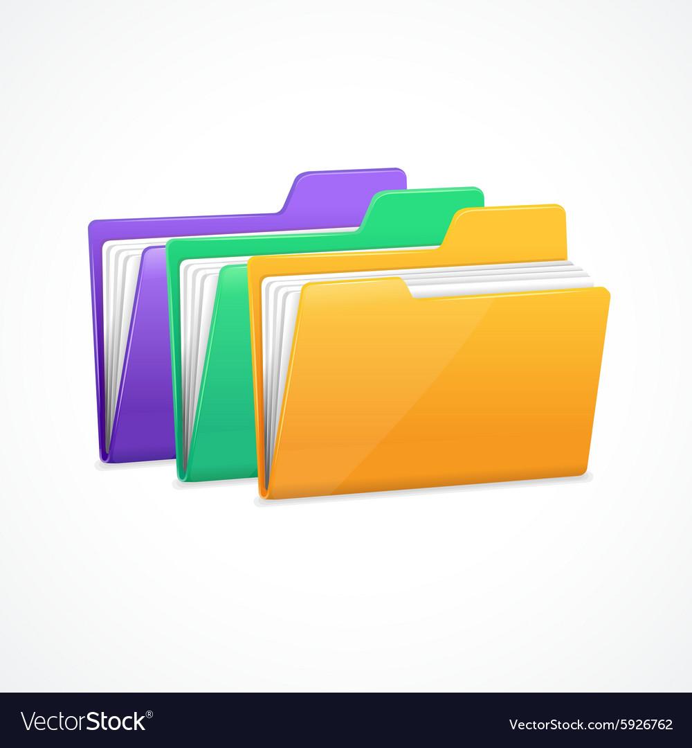 File Folders Set vector image
