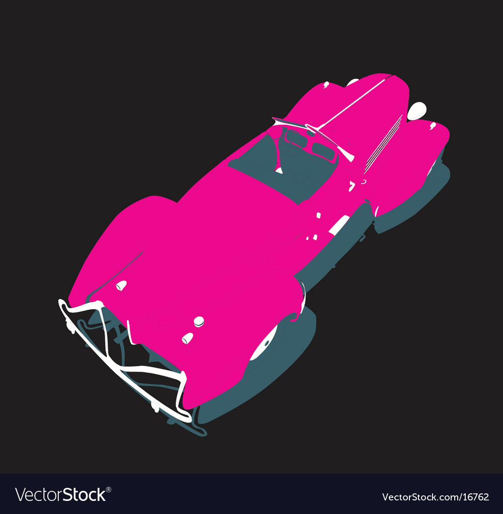 Glamour car back view vector image