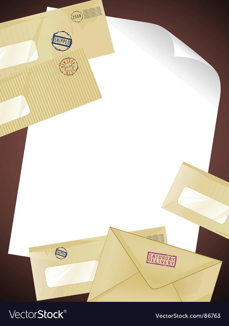 Letter vector image