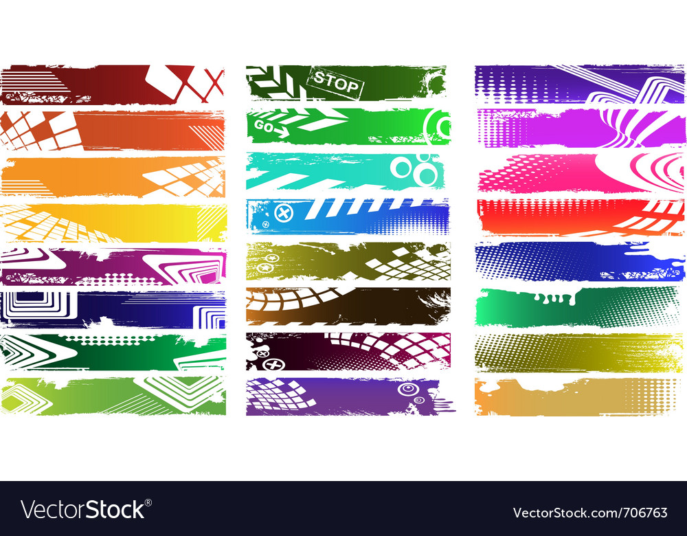 Grunge banners with place for your text vector image