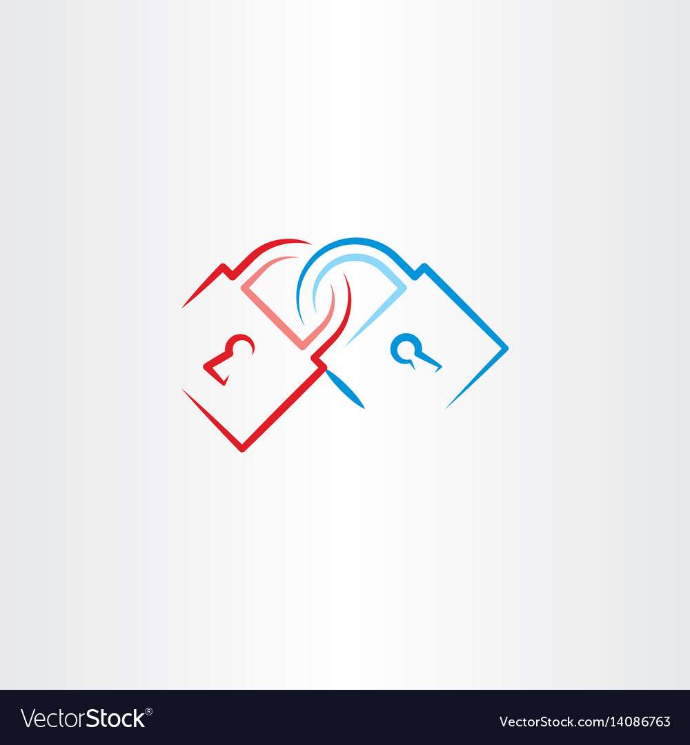 Lock icon element vector image