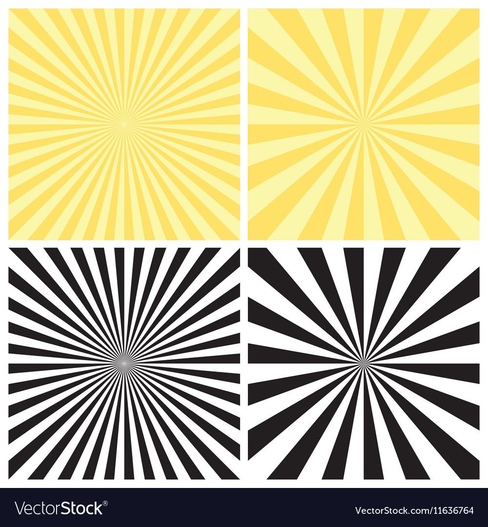 Set of Radial Sunburst Backgrounds vector image