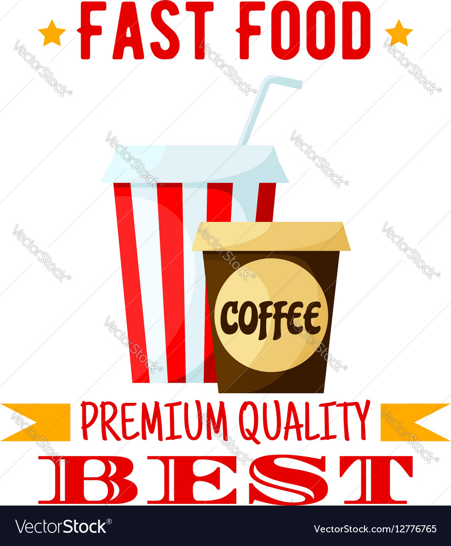 Coffe soda drink fast food isolated icon vector image