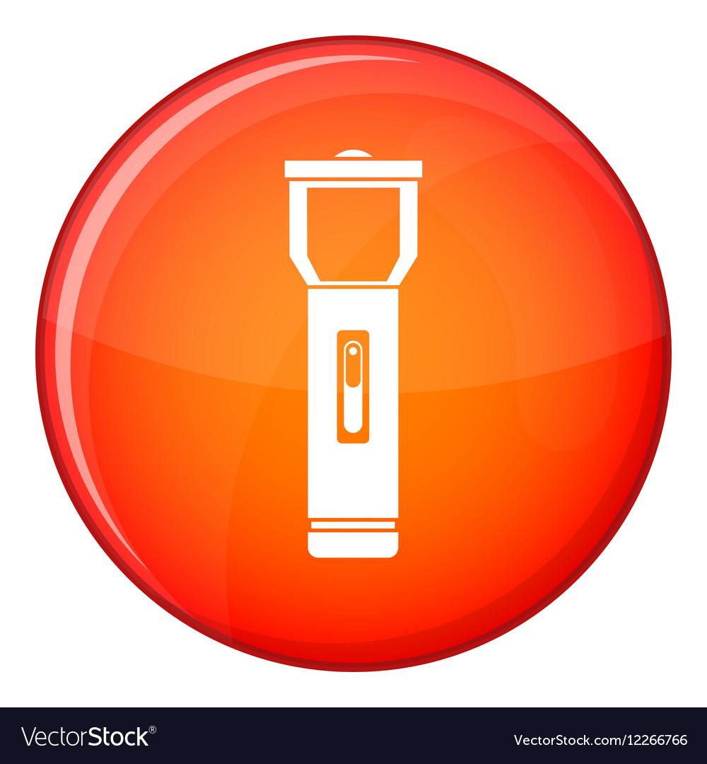 Pocket flashlight icon flat style vector image