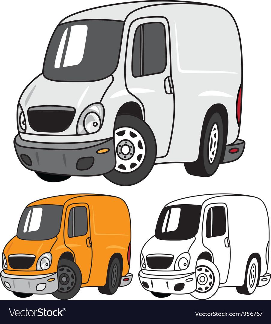 Cartoon Panel Van vector image