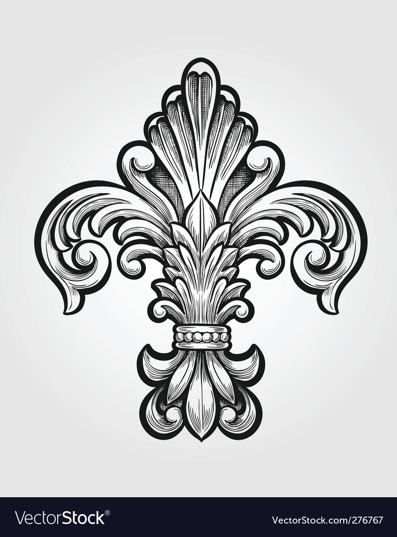 Elegant Fleur-de-lis vector image