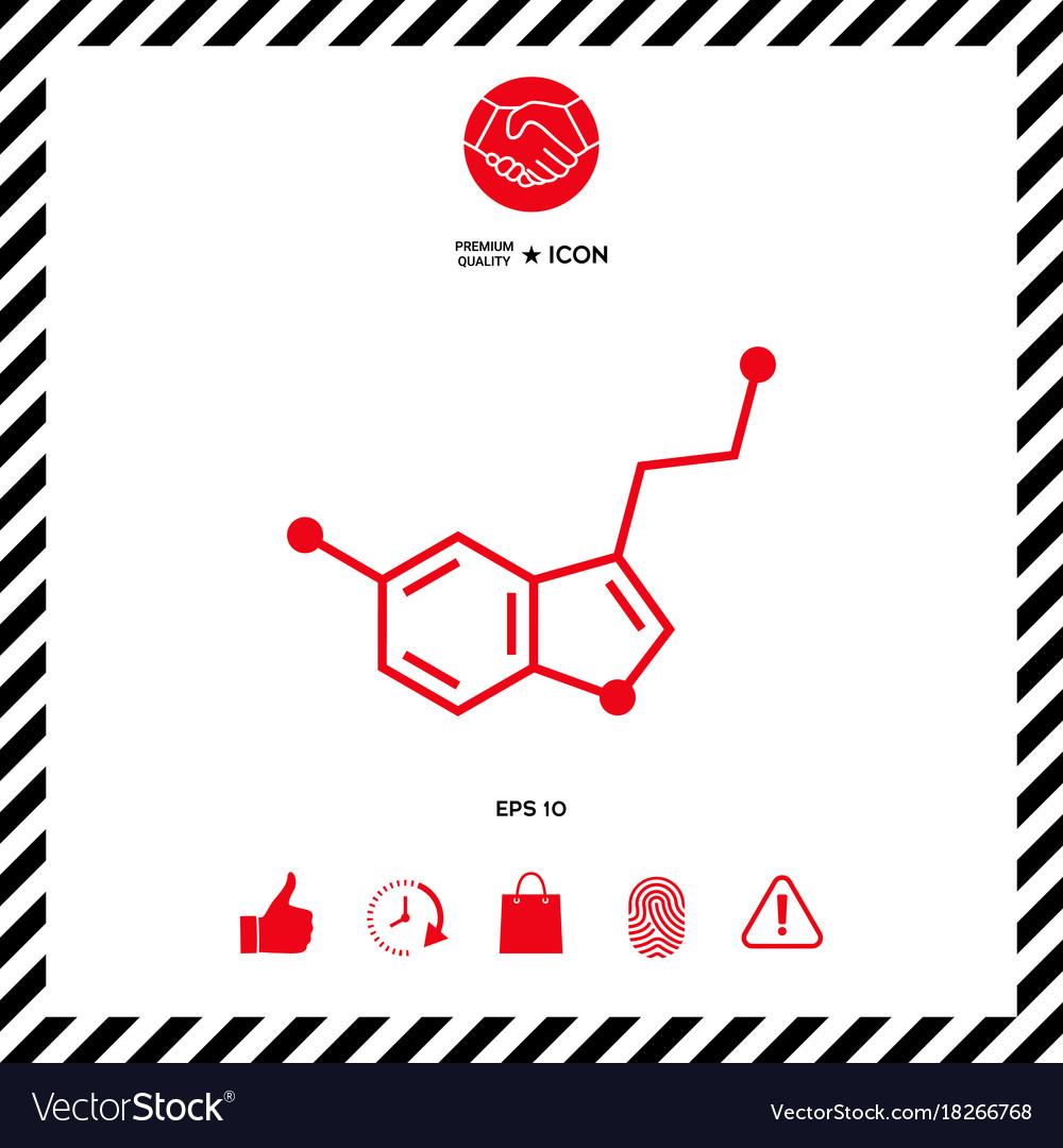Chemical formula icon serotonin royalty free vector image chemical formula icon serotonin vector image buycottarizona