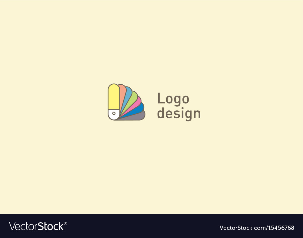 Creative logo or fan icon color palette vector image