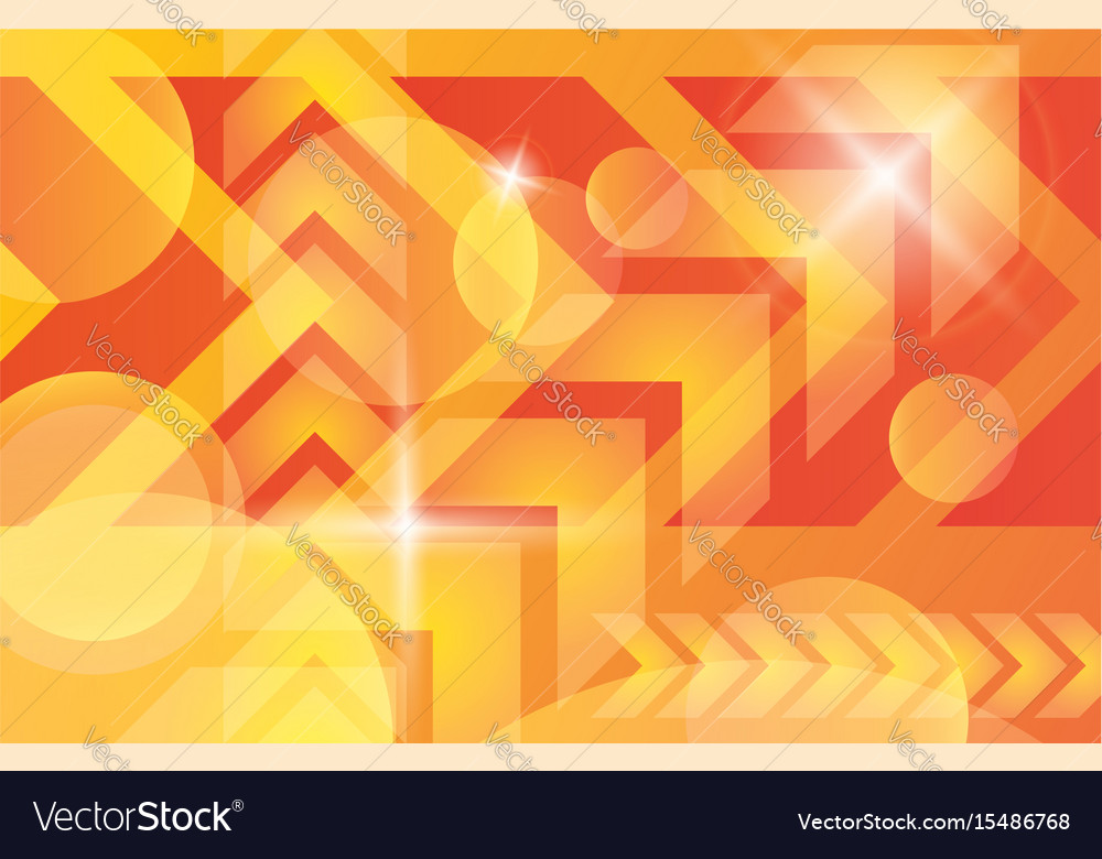 Orange yellow bright technology background vector image