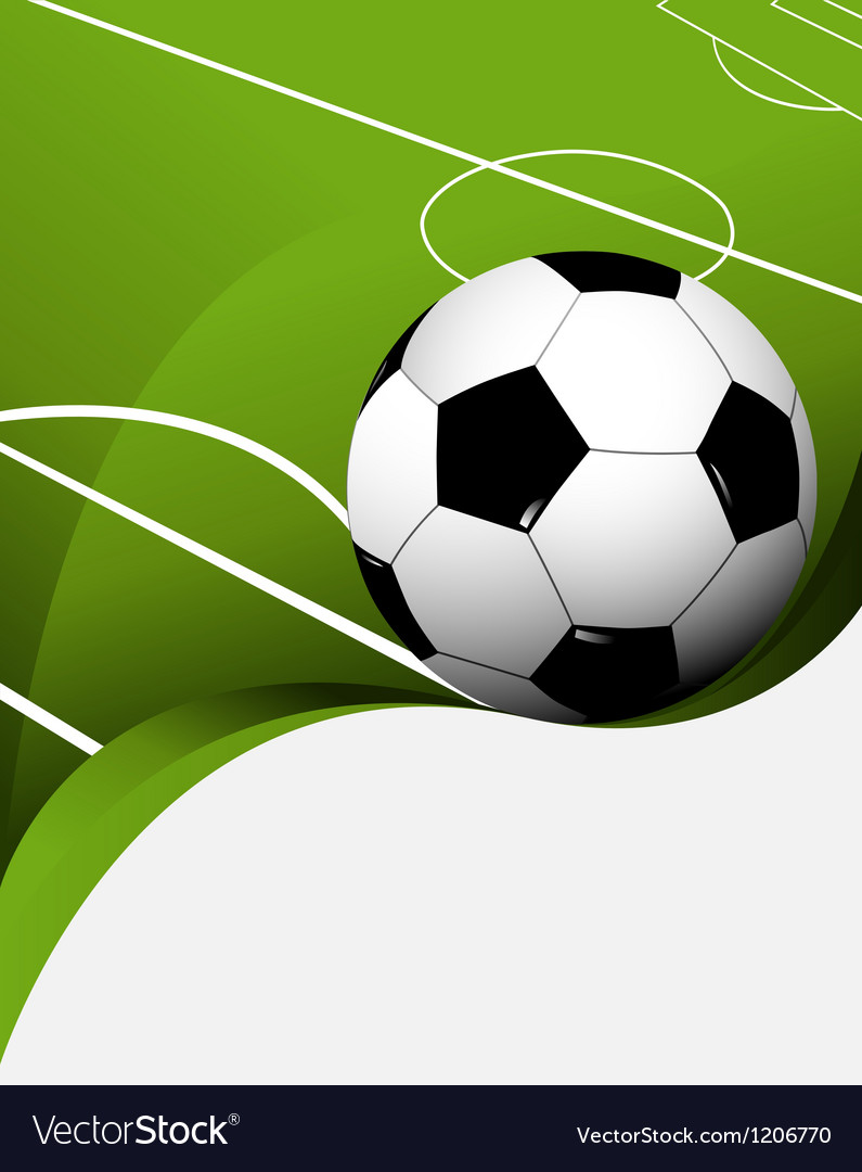 Abstract football background Vector Image