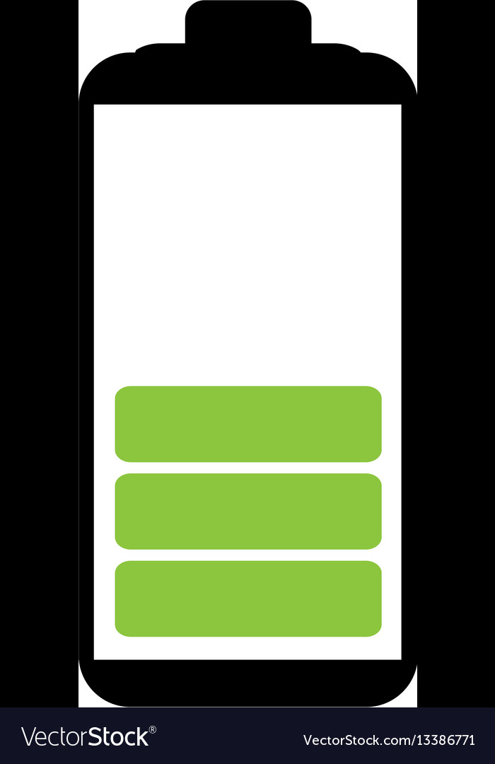 Battery symbol with level medium charge royalty free vector battery symbol with level medium charge vector image biocorpaavc Images