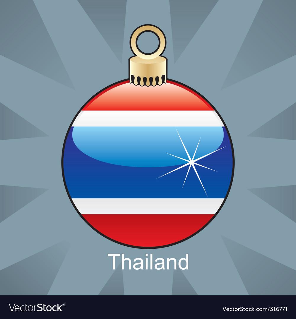 Thailand flag on bulb vector image