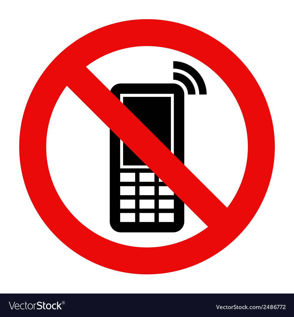 mobile phone prohibited royalty free vector image rh vectorstock com mobile victory polaris mobile al mobile victoria's secret