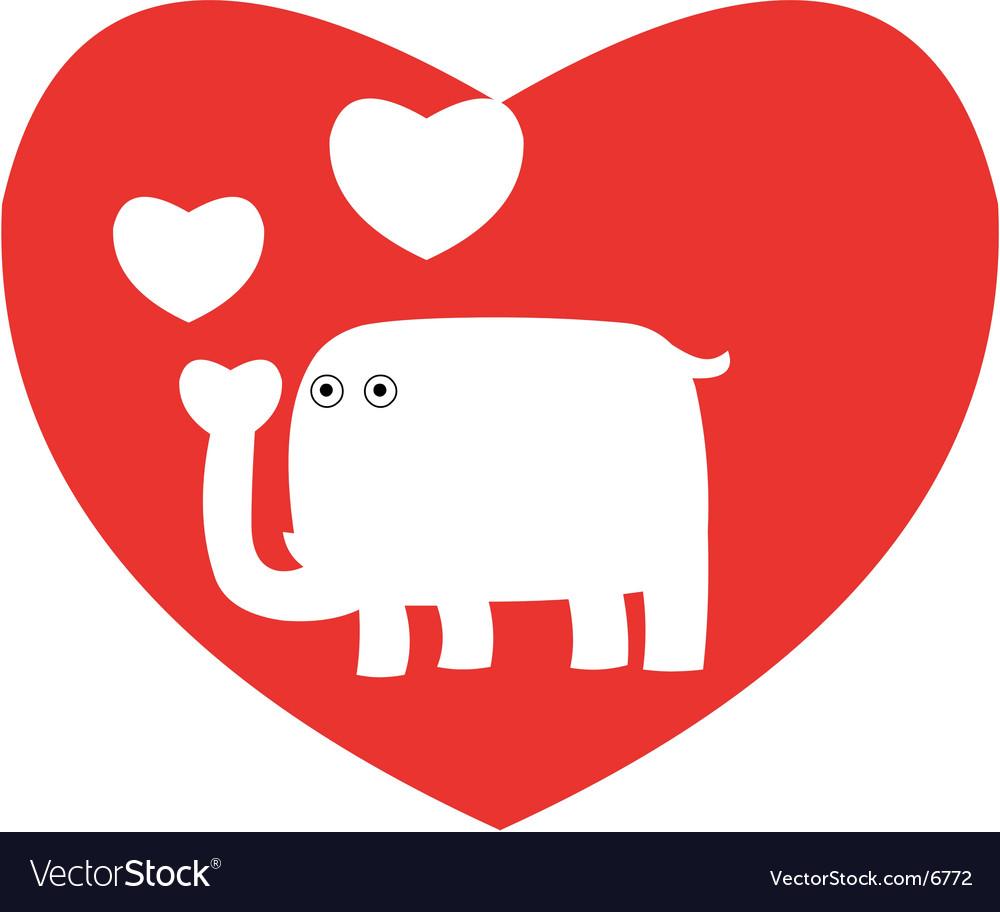valentine elephant vector image - Elephant Valentine